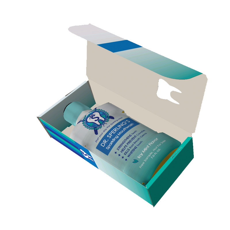 Mouth Wash Packaging Boxes